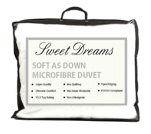 MICROFIBRE DUVET SOFT AS DOWN KING SIZE 13.5 TOG